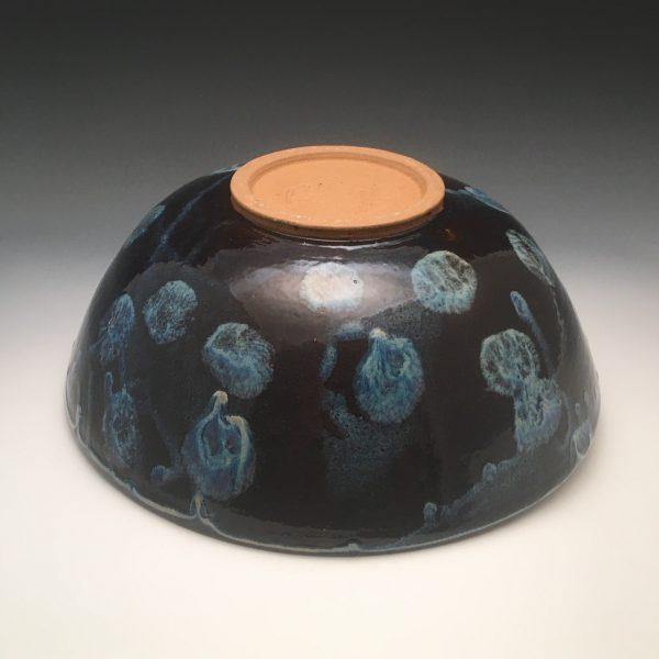 Midnight Bloom Serving Bowl