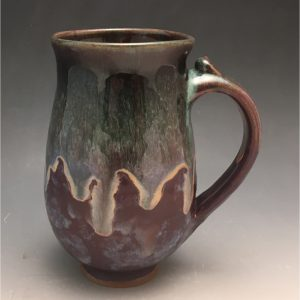Purple Teardrop Mug