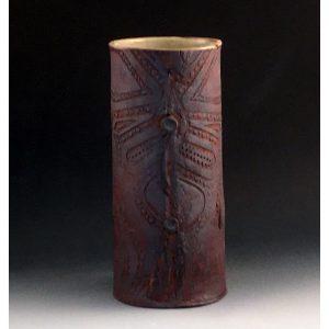 Batik Boot Vase - Creme