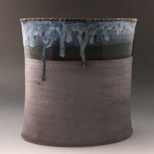 RIO Azul Oval Vase