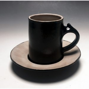 Black Tie Demitasse and Saucer