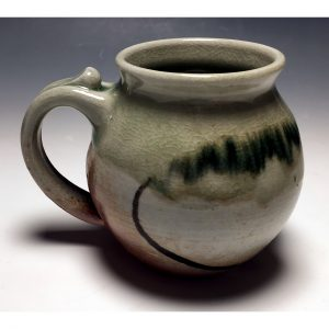 Celedon Wood Fired Mug Round