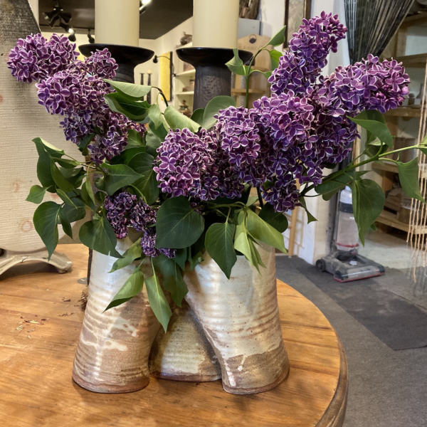 Canyon Vase with Lilacs