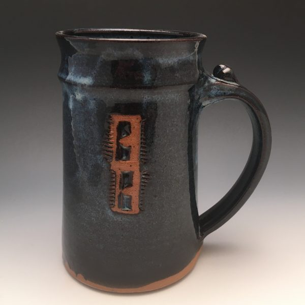 Midnight Blue Manhandle Mug