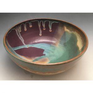 Purple Sunset Small Serving Bowl