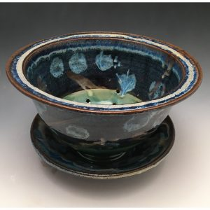 Taos Bloom Berry Bowl with Saucer