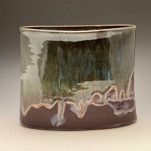 Purple Rain Oval Vase